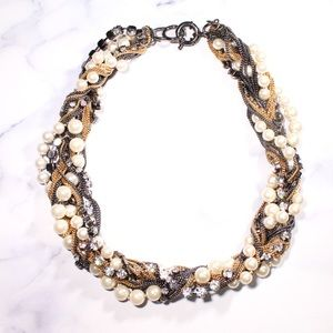 J. Crew Mixed Material Multi-strand Necklace